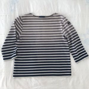 Madewell x Le Minor Nautical Dip Dye Stripe Top